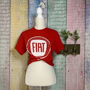 Fiat Logo Graphic Unisex Tee Crew Neck T Shirt